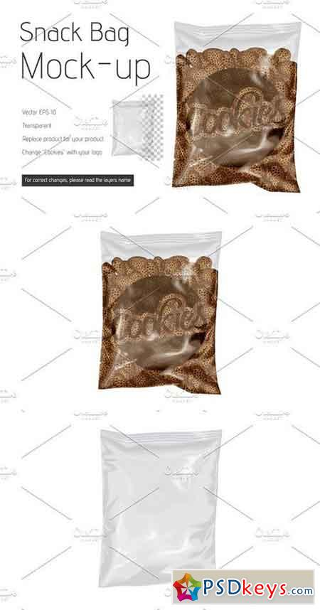 Vector Snack Bag Mock-up 1245482