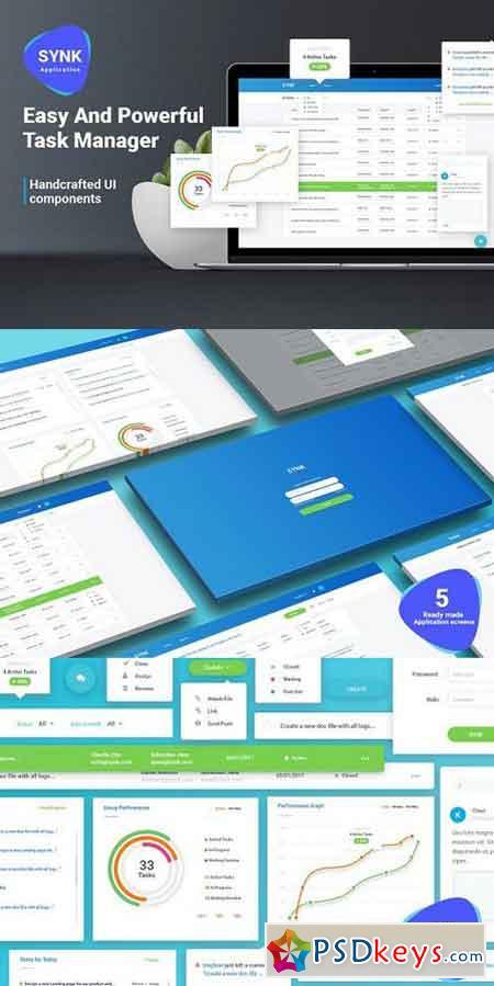 Task Management UI Kit 1259609