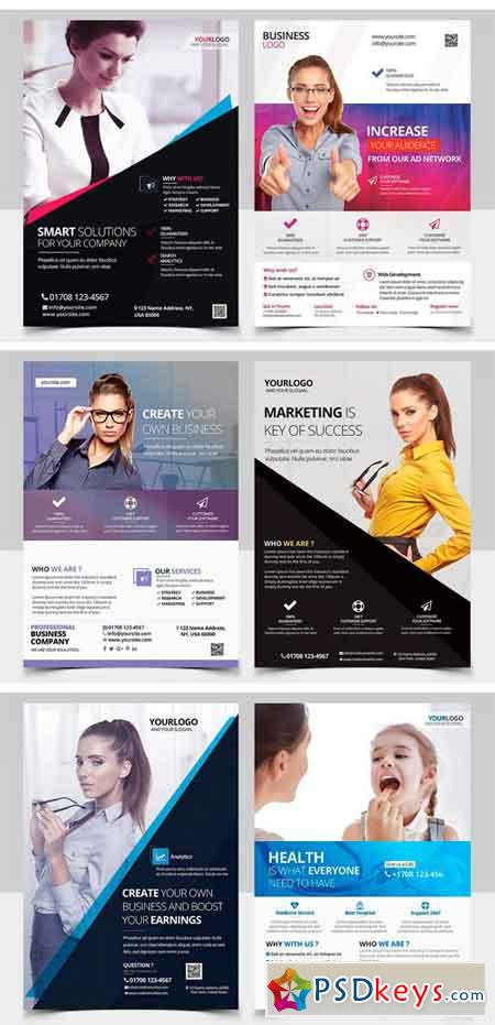 BUNDLE 10 PSD Business Flyers 1256990