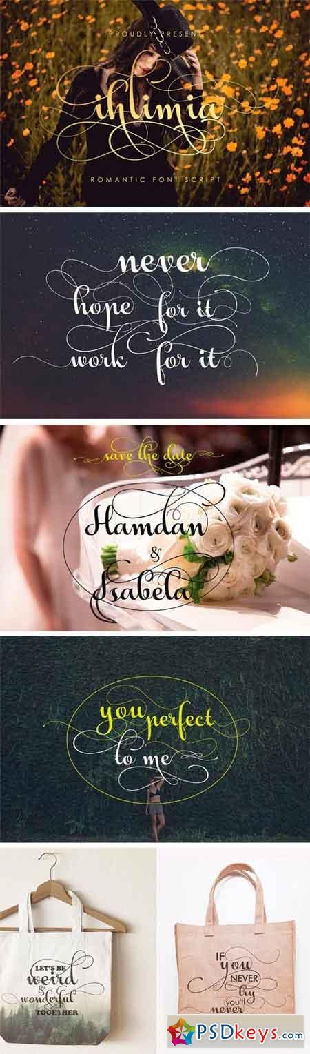 Ihlimia Romantic Font 1256447