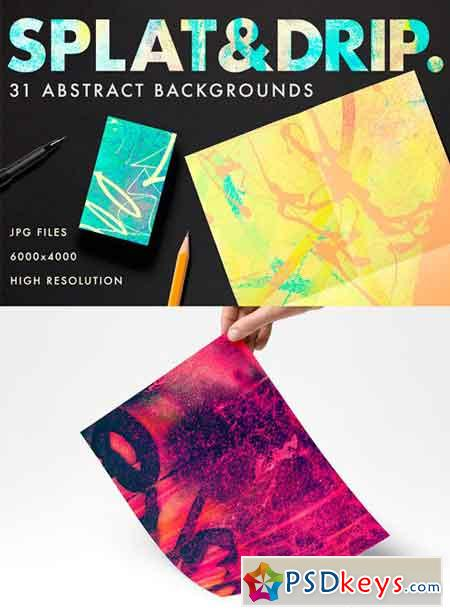 Splat & Drip Abstract Background 1257666
