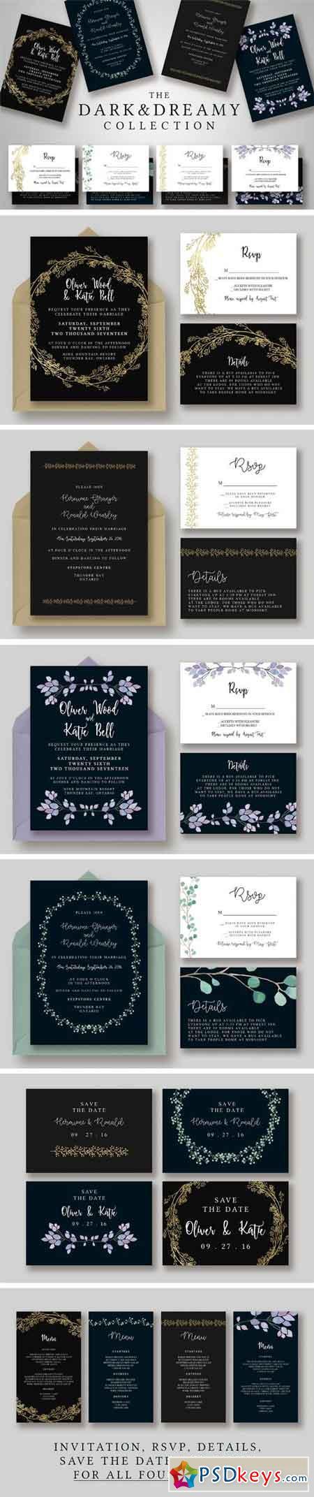 Dark & Dreamy Invitation Collection 1163618