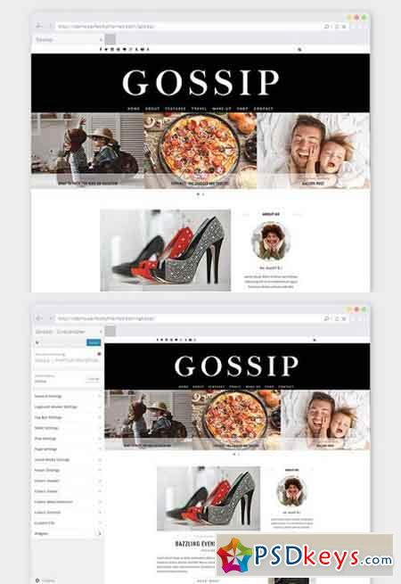 Fashion WordPress Theme Gossip 823937