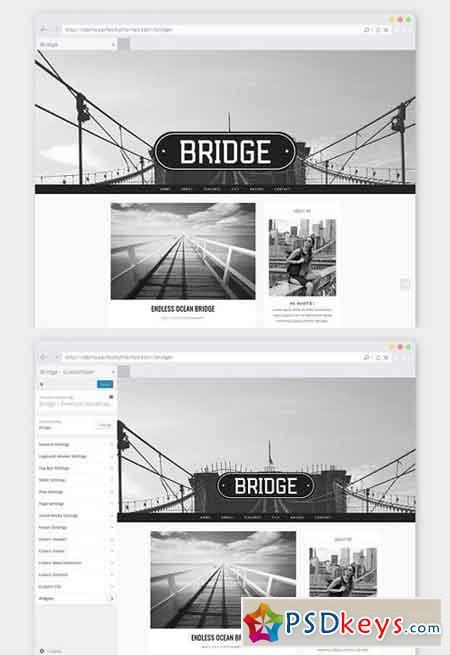 Photographer WordPress Theme Bridge 826183 » Free Download Photoshop Vector Stock image Via ...