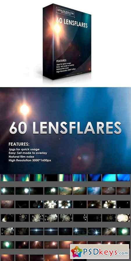 60 Lensflares Light Leaks Overlays 1270019 » Free Download