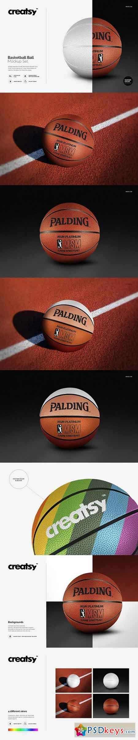Basketball Ball Mockup Set 1270753