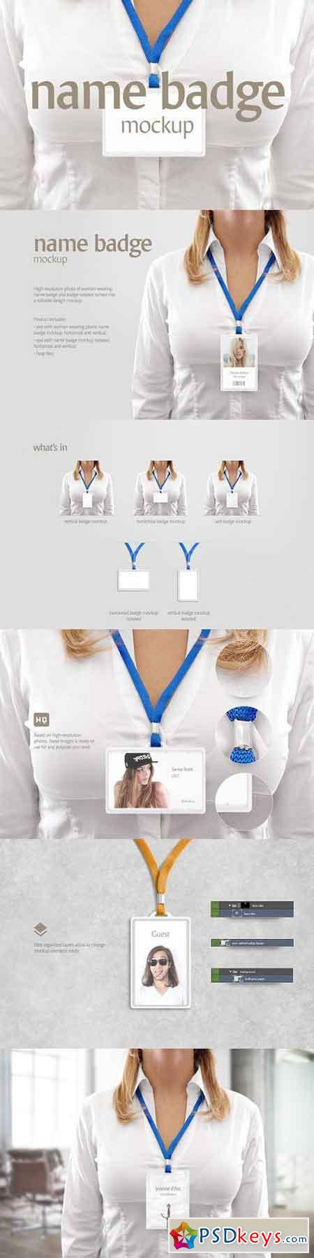 Name badge mockup 1274176