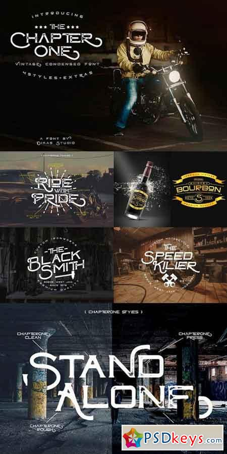ChapterOne - 4 Font Styles+Extras 1279468