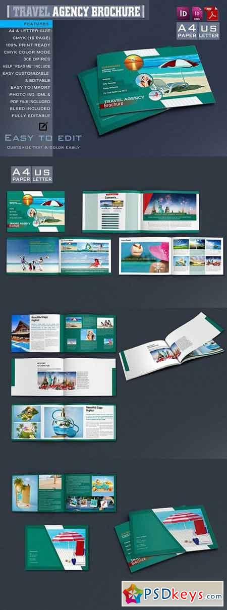 Travel Agency Brochure Catalog 1269496