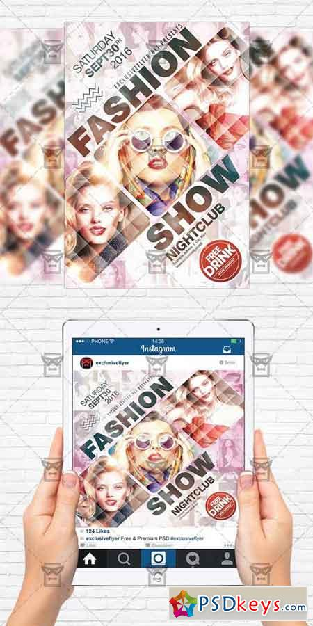 Fashion Show - Flyer Template + Instagram Size Flyer » Free ...