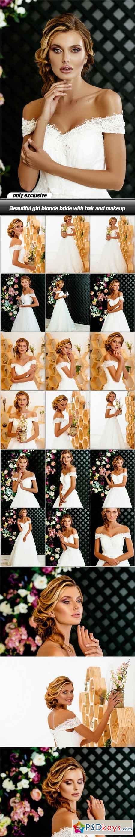 Beautiful girl blonde bride with hair and makeup - 22 UHQ JPEG