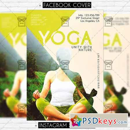 Yoga – Premium PSD Flyer Template