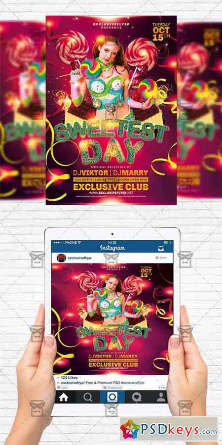 Sweetest Day - Flyer Template + Instagram Size Flyer