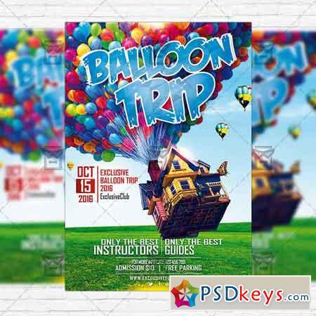 Air Balloon Trip - Premium PSD Flyer Template+Instagram Size Flyer