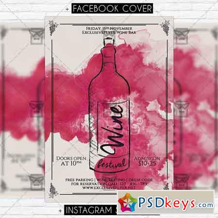 Wine Fest – Premium PSD Flyer Template