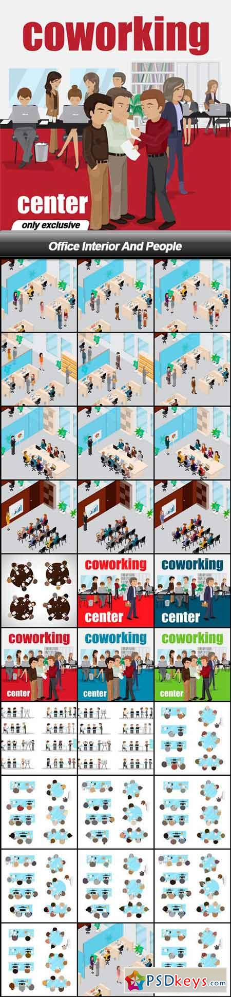 Office Interior And People - 29 EPS
