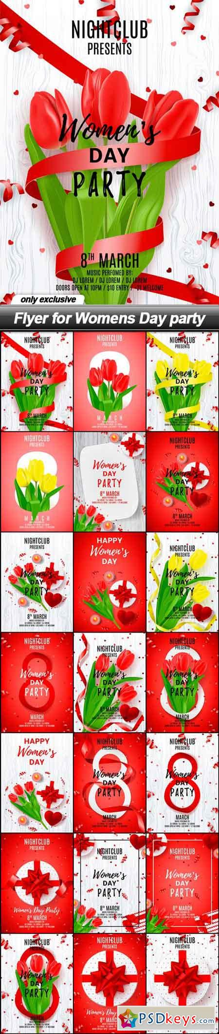 Flyer for Womens Day party - 21 EPS
