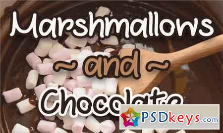 Marshmallows and Chocolate font