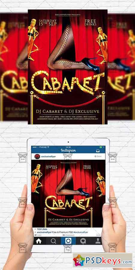 Cabaret Night - Flyer Template + Instagram Size Flyer