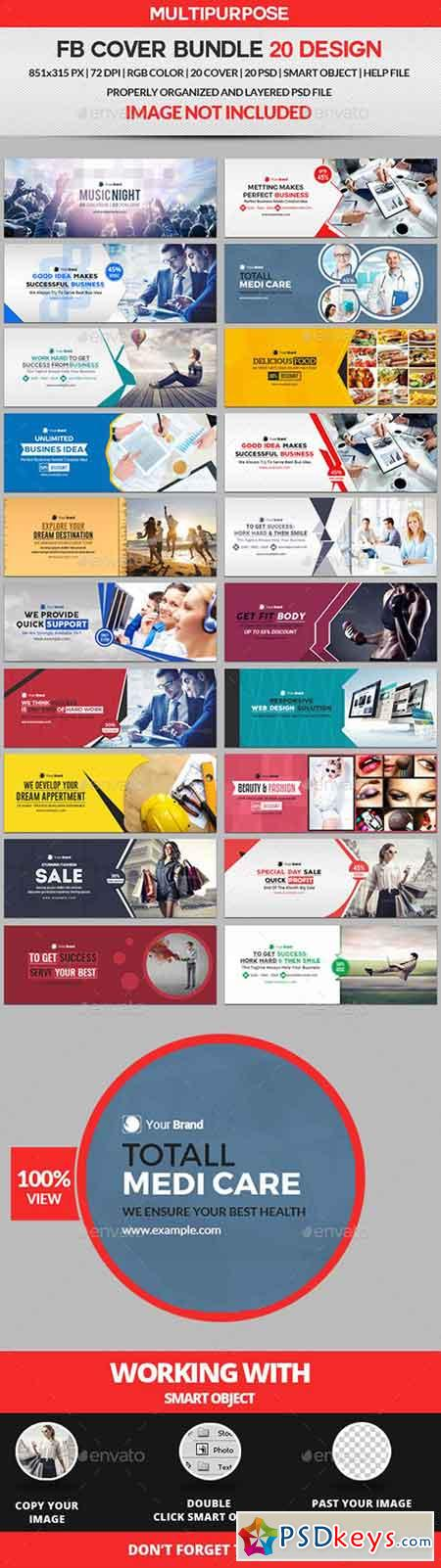 Facebook Cover Bundle Two - 20 Design 19459700