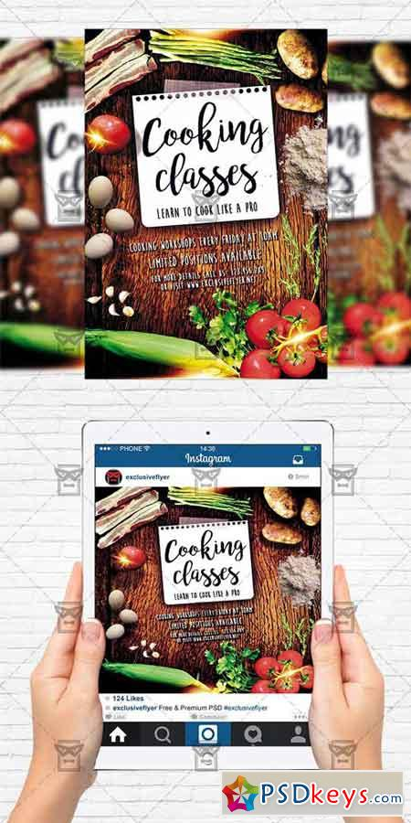 Cooking Lessons - Flyer Template + Instagram Size Flyer