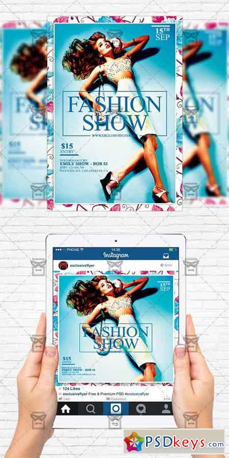 Fashion Show - Flyer Template + Instagram Size Flyer 2