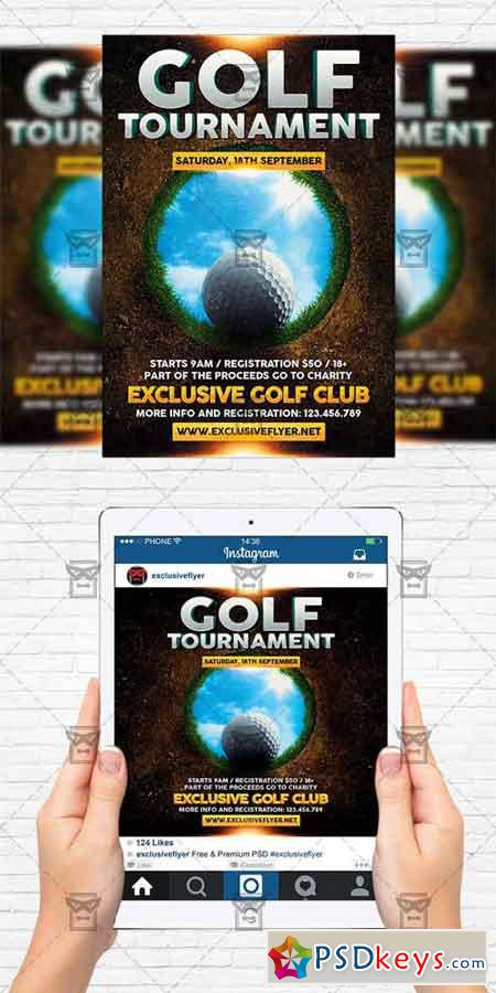 Golf Tournament - Flyer Template + Instagram Size Flyer
