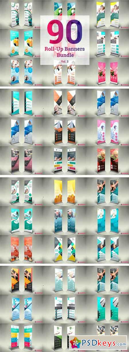 90 Roll Up Banners Bundle 1257058