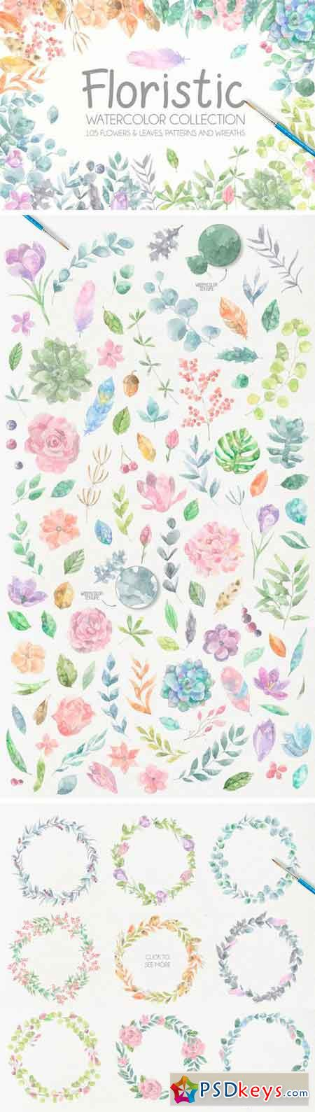 Floristic Watercolor Collection 1211284
