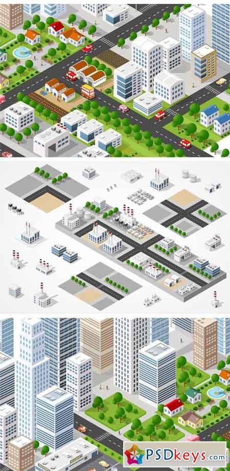 Modern 3D City 1257632