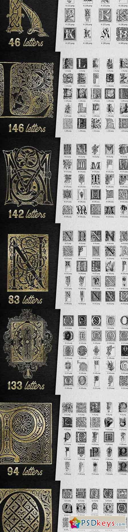 VINTAGE LETTERS COLLECTION 1170716