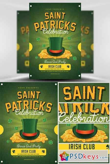 St. Patrick's Celebration Flyer Template 3