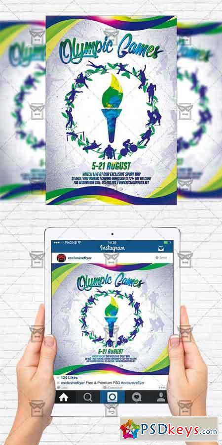 Olympic Games - Flyer Template + Instagram Size Flyer