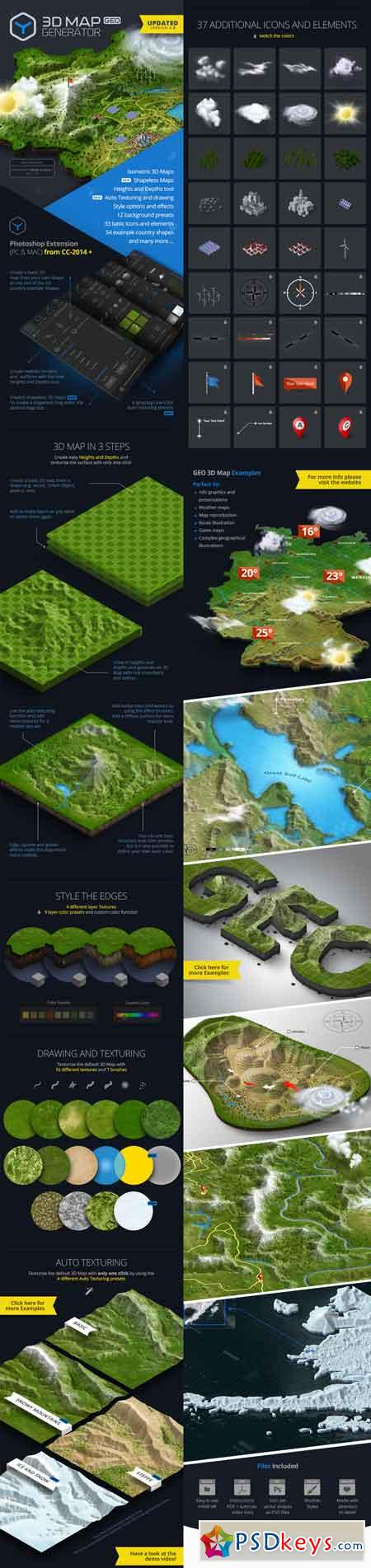 3D Map Generator - GEO 12451004 » Free Download Photoshop