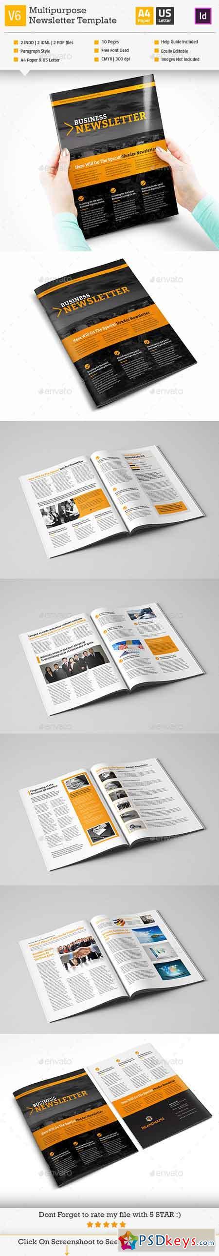 Multipurpose Newsletter Template_InDesign_V6 12103370