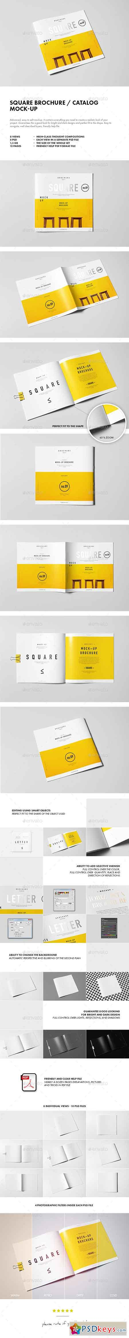 Square Brochure Catalog Booklet Mock-up 10361134