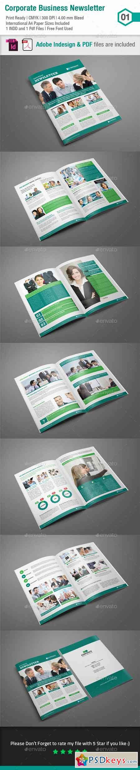 Business Newsletter Template_Indesign Layout_V1 8924552