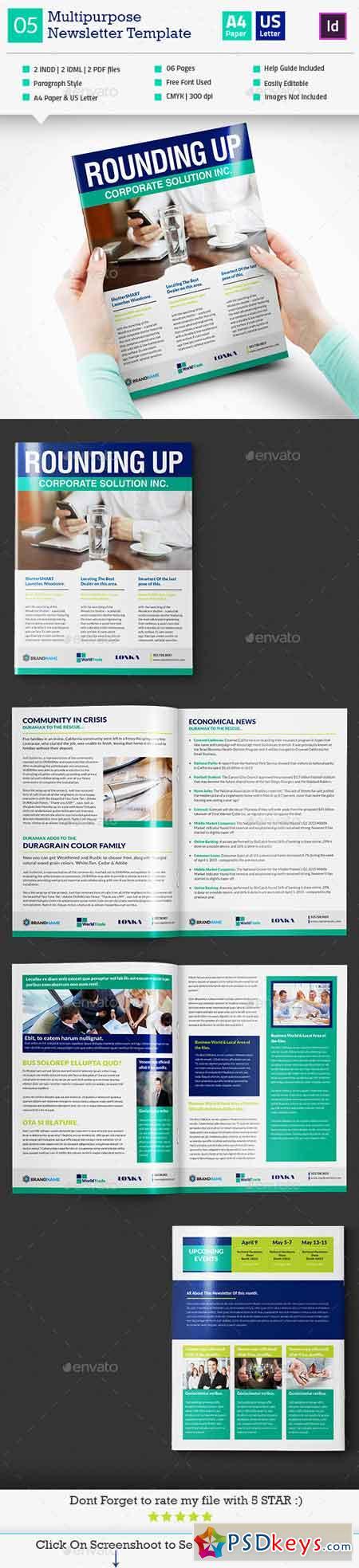 Multipurpose Newsletter Template_InDesign_V5 11881033