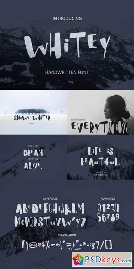 Whitey Handwritten brush font 1278376