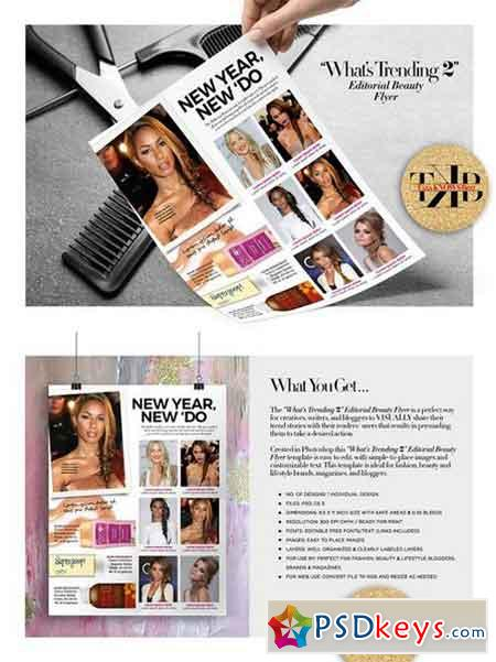 Editorial Beauty Page Flyer 1277116