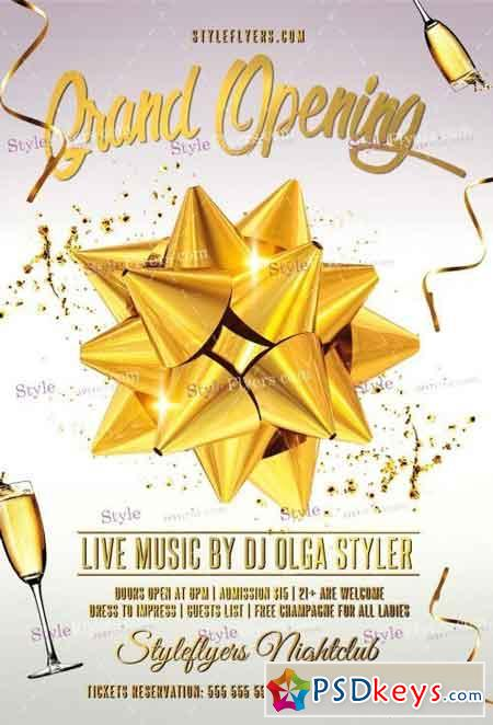Grand Opening Psd Flyer Template » Free Download Photoshop Vector