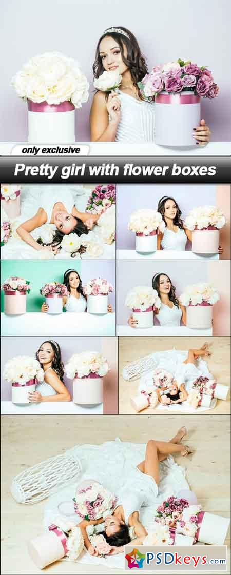 Pretty girl with flower boxes - 8 UHQ JPEG