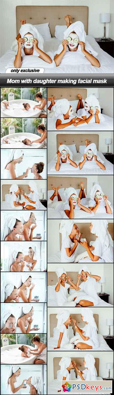 Mom with daughter making facial mask - 17 UHQ JPEG