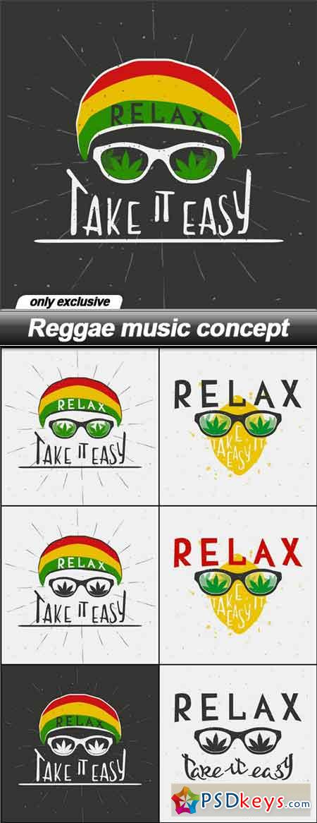 Reggae music concept - 7 EPS