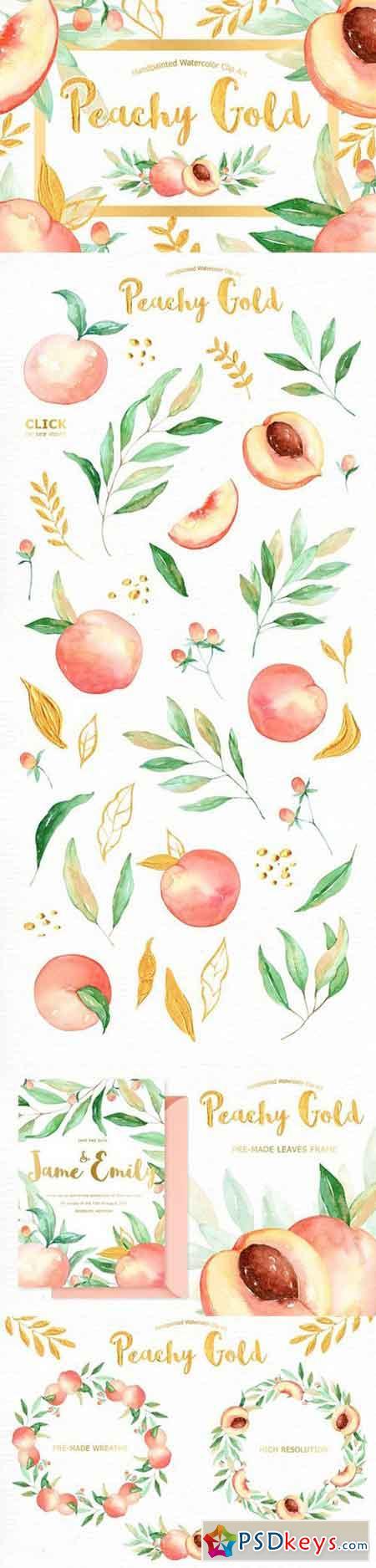 Peachy Gold Flower Clipart 1277304