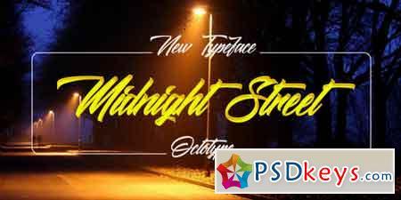 Midnight Street Script Font