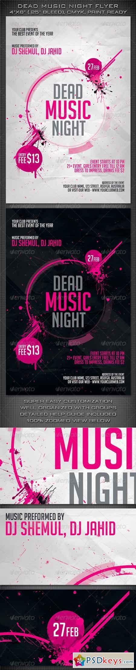 Dead Music Night Flyer 4124605