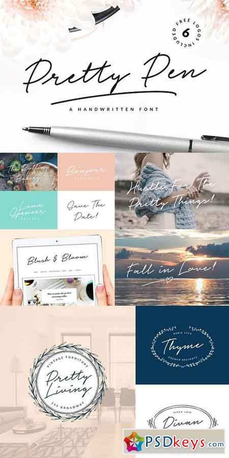 Pretty Pen Handwritten Font 1278063