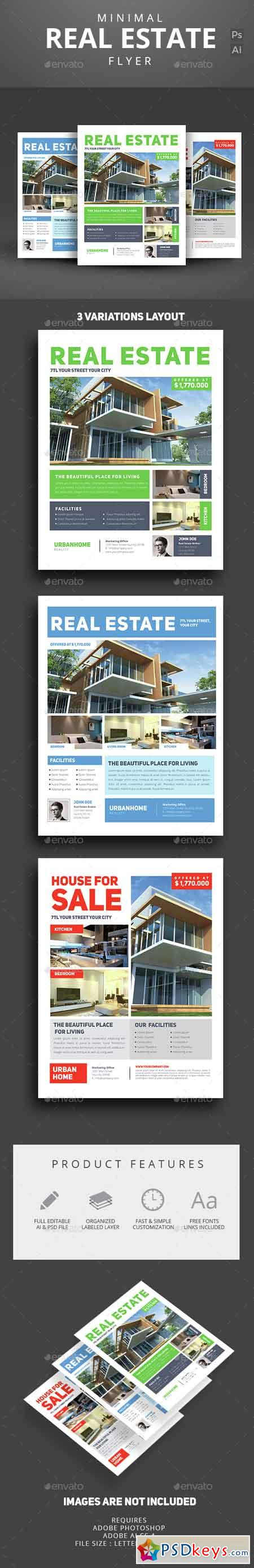 minimal real estate flyer 14614035 photoshop minimal real estate flyer 14614035