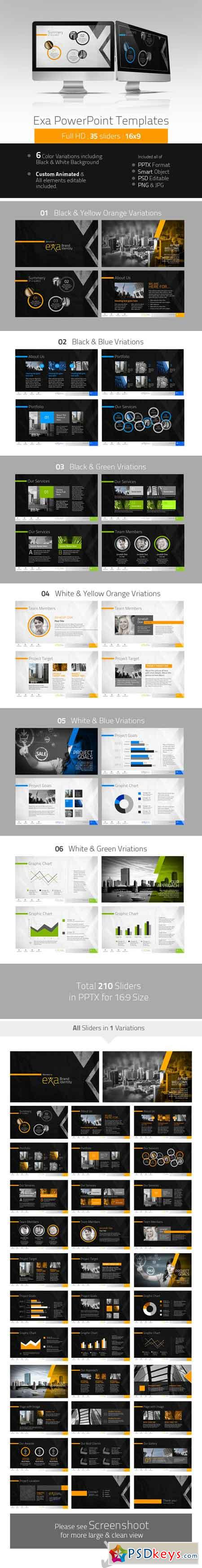 Exa Creative PowerPoint Presentation 4741238
